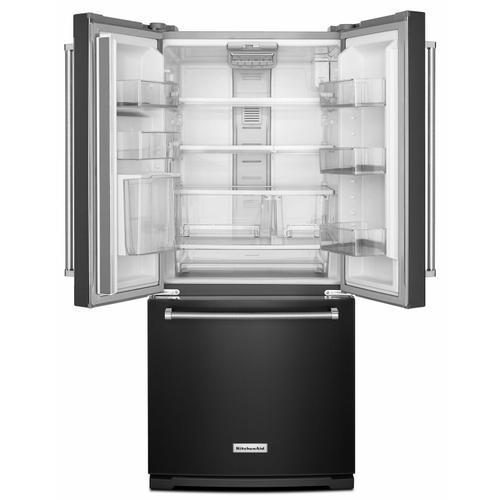 KitchenAid - 20 cu. Ft. 30-Inch Width Standard Depth French Door Refrigerator with Interior Dispense - Black Stainless Steel with PrintShield™ Finish