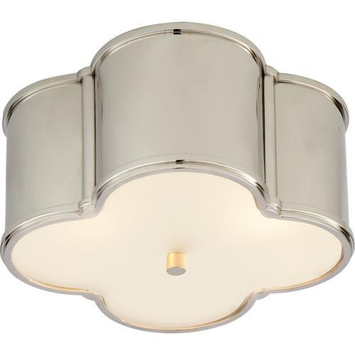 Visual Comfort - Alexa Hampton Basil 2 Light 11 inch Polished Nickel Flush Mount Ceiling Light