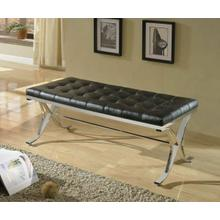 ACME Royce Bench - 96412 - Black PU & Chrome