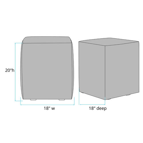 Universal Cube Cover Seascape Charcoal (Cover Only)
