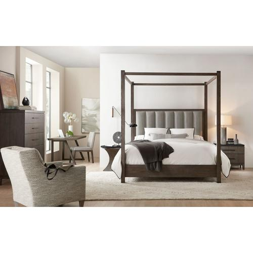 Bedroom Miramar Aventura Jackson Queen Poster Bed w-Tall Posts & Canopy