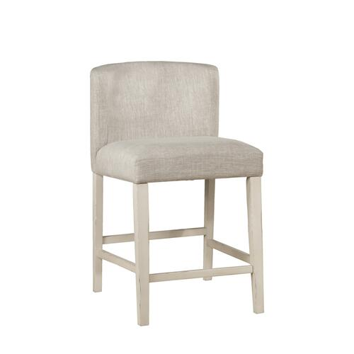 Clarion Wing Arm Non-swivel Counter Height Stool - Sea White