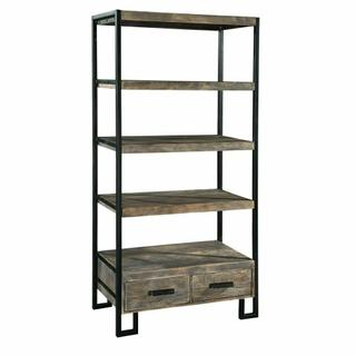 2-7829 office@home Santa Cruz Open Bookcase with Drawer