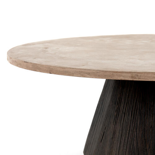 Darwin Round Coffee Table-taupe