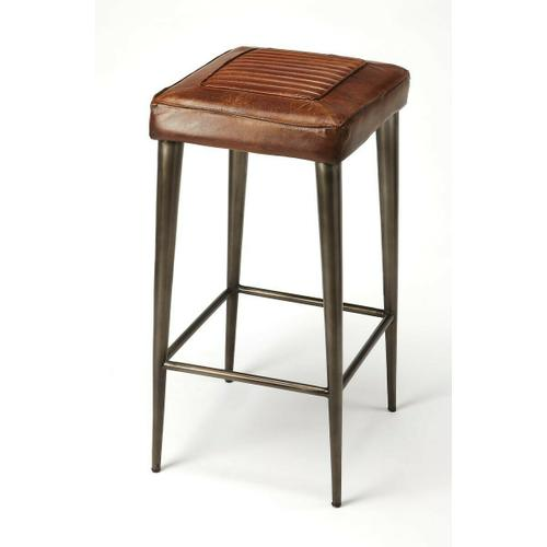 Reminiscent of vintage car seats, this bar stool brings a rustic vibe to your kitchen, bar, or pub ensemble. Comfortable seating with its supple leather and a foot rest in just the right place, adds a touch of class and elegance to your already existing h