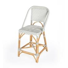 See Details - Function, form and fun all come together on this beautiful PU Rattan weave counter chair. The simplistic design of this counter chair is enhanced by a 'POP of contemporary design. The functional design of the counter chair with its intricate patterned weave and patterned chair arms offer all attentions to details. Reminiscent of the outdoor cafes on the streets of Paris, while sipping an aperitif.The fresh new look of this counter chair will bring new life to your kitchen dining or pub dining.