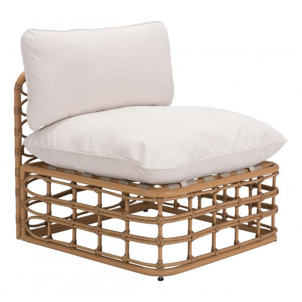 See Details - Kapalua Middle Chair Beige & Natural