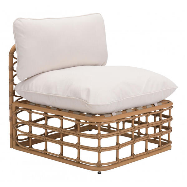 Kapalua Middle Chair Beige & Natural