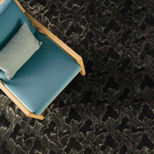 "Luxe Shag Artic Black - Rectangle - 24"" x 36"""