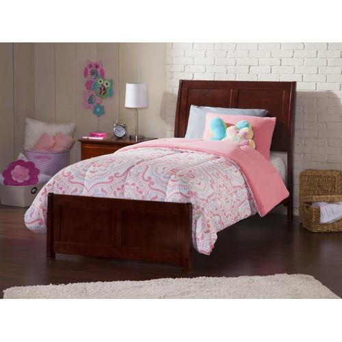 Atlantic Furniture - Portland Twin Bed with Matching Foot Board in Walnut