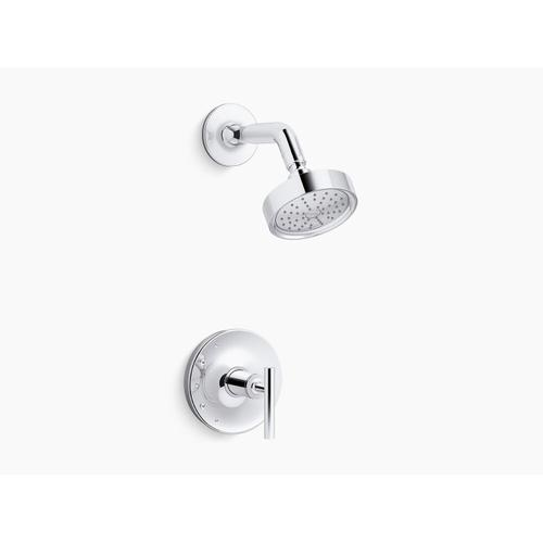 Kohler - Vibrant Brushed Nickel Rite-temp Shower Trim With Lever Handle and 1.75 Gpm Showerhead
