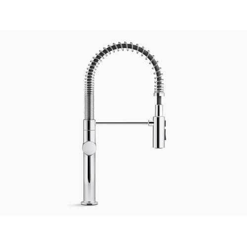 Polished Chrome Single-handle Semi-professional Kitchen Sink Faucet