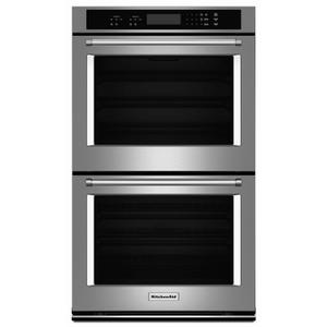 """KITCHENAID27"""" Double Wall Oven with Even-Heat™ Thermal Bake/Broil - Stainless Steel"""