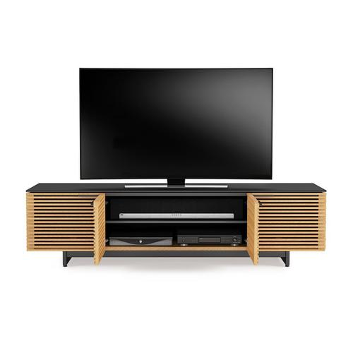 Low Media Cabinet 8173 in White Oak