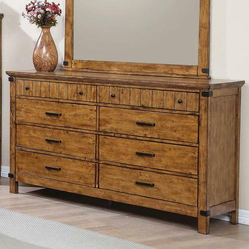 Brenner Rustic Honey Eight-drawer Dresser