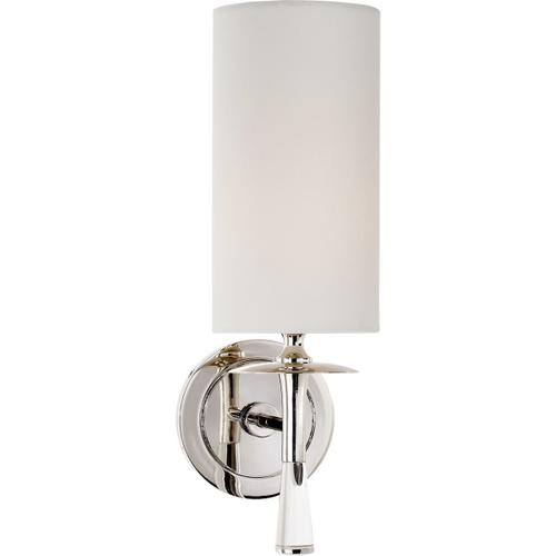 Visual Comfort - AERIN Drunmore 1 Light 5 inch Polished Nickel with Crystal Single Sconce Wall Light in Linen