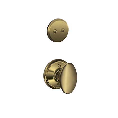 Camelot In-active Handleset and Siena Knob - Antique Brass