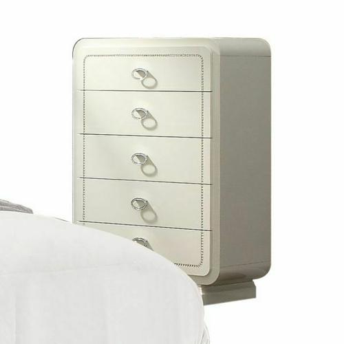 ACME Bellagio Chest - 20396 - Ivory High Gloss