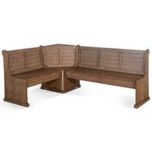 Doe Valley Long Bench & Corner Back, Wood Seat