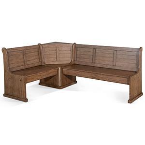 Doe Valley Long Bench & Corner Back, Wood Seat