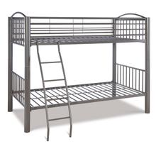 View Product - Heavy Metal Pewter Twin Over Twin Bunk Bed