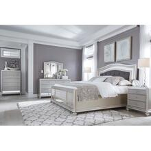 Coralayne-Silver. Footboard/headboard, dresser/mirror, 1 nightstand