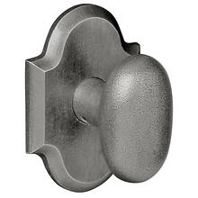 Distressed Antique Nickel 5024 Oval Knob