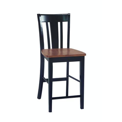 John Thomas Furniture - San Remo Stool in Black & Cherry