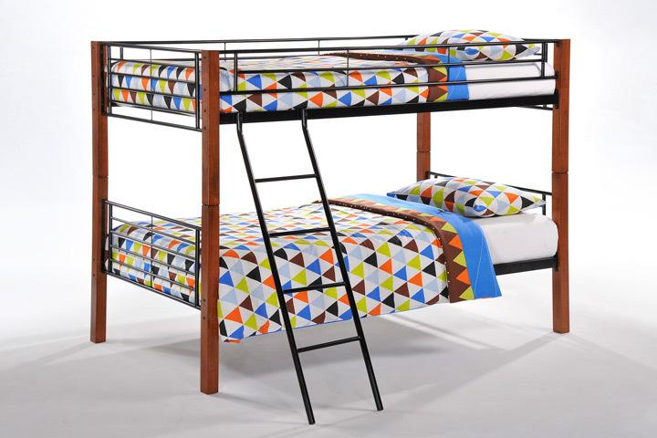 Night And Day FurnitureDandelion Twin Twin Bunk Bed Package (Includes Frame, 2 Bunkie Boards & 2 Twin Mattress)