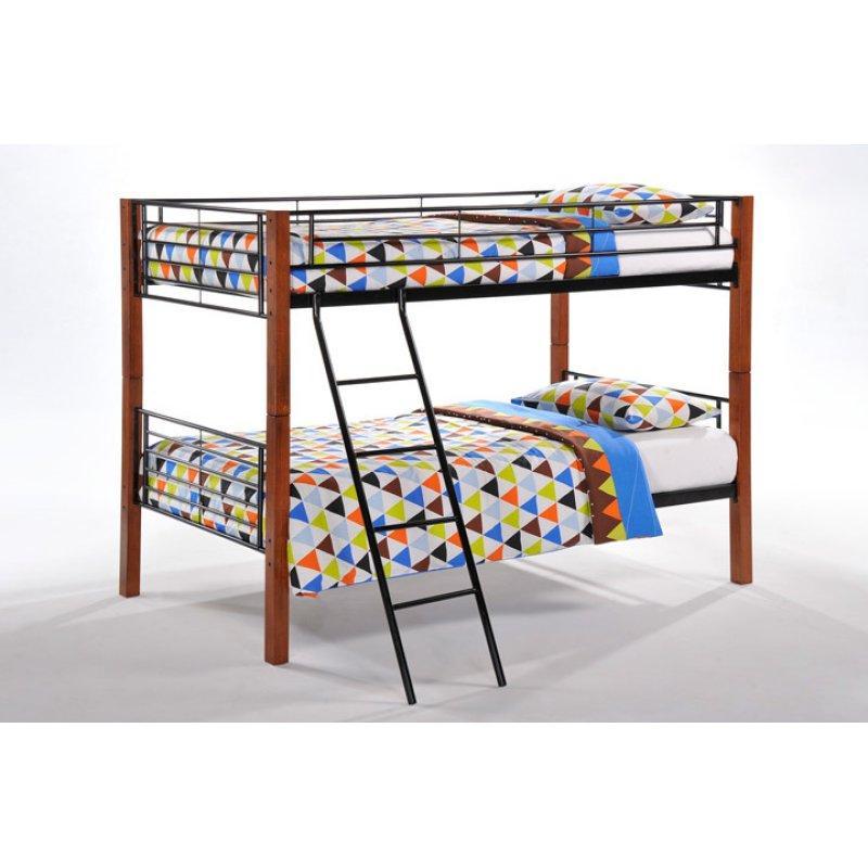 Dandelion Twin Twin Bunk Bed Package (INCLUDES FRAME, 2 BUNKIE BOARDS & 2 TWIN MATTRESS)