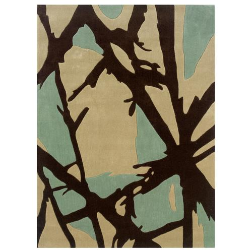 Trio D351 Branches Blue 5ftx7ft