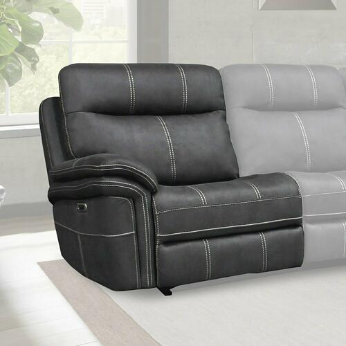MASON - CHARCOAL Power Left Arm Facing Recliner