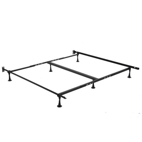 Product Image - Sentry TK52G Universal Sized Single Angle Cross Support Bed Frame with Fixed Headboard Brackets and (6) 2.5-Inch Glide Legs