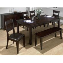 Dark Rustic Prairie Dining Table With Butterfly Leaf