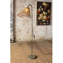 See Details - floor lamp with rattan shade
