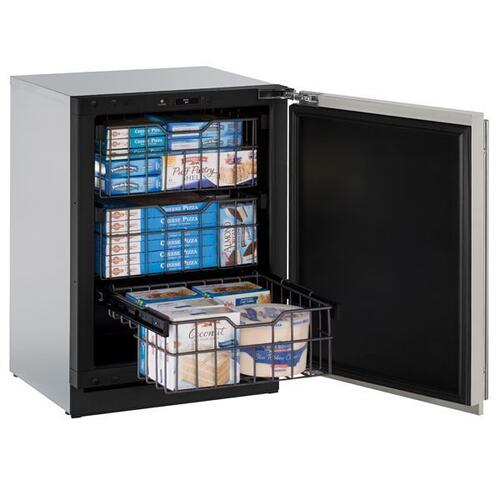 """24"""" Freezer With Stainless Solid Finish (115 V/60 Hz Volts /60 Hz Hz)"""