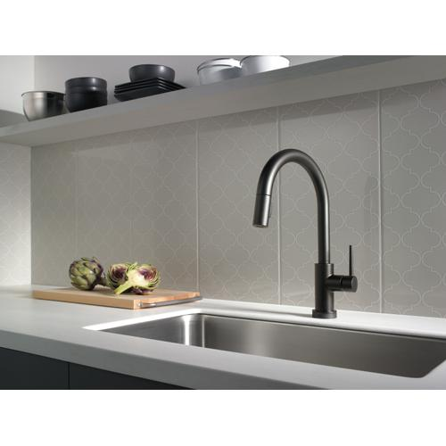 9159tvbldst In Matte Black By Delta Faucet Company In Mcnabb Il Matte Black Voiceiq Single Handle Pull Down Kitchen Faucet With Touch 2 O Technology