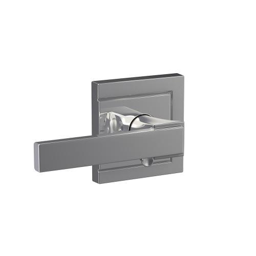 Custom Northbrook Lever with Upland Trim Hall-Closet and Bed-Bath Lock - Bright Chrome