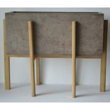 See Details - Modrest Polk Modern Concrete Rectangular Planter