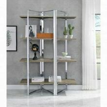 ACME Libby Bookshelf - 92545 - Chrome