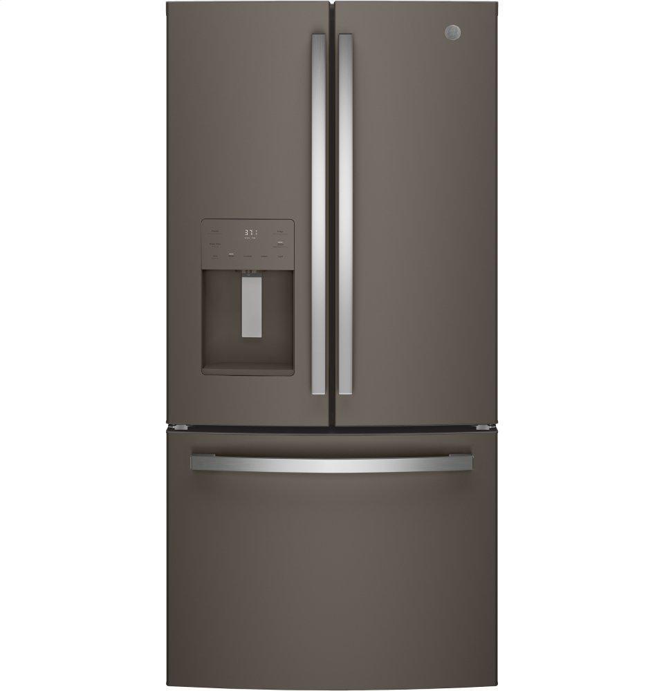 GEEnergy Star® 17.5 Cu. Ft. Counter-Depth French-Door Refrigerator
