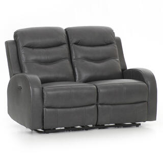 Milano Power Reclining Loveseat  Gray
