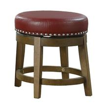 Round Swivel Stool, Red