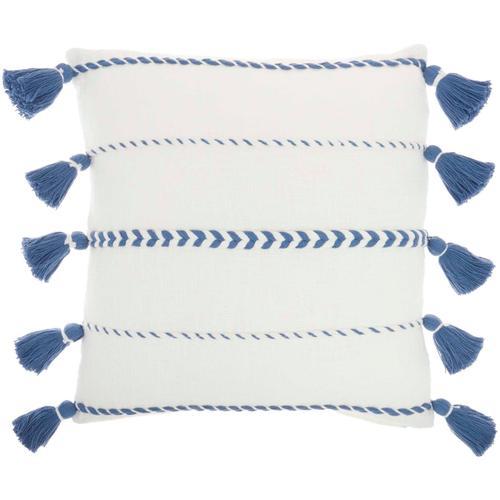 "Life Styles Sh037 Blue 20"" X 20"" Throw Pillow"