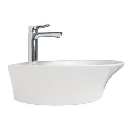 Sensation 500 Wall-Hung Sink - Single-Hole / White