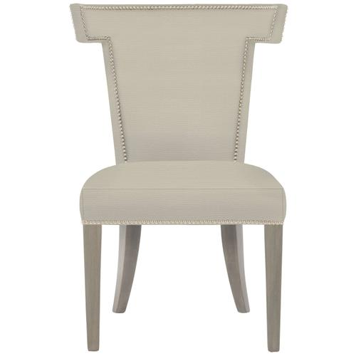 Remy Dining Side Chair in Weathered Greige Finishes Available Glacier White (WW1) Midnight Black (BW1) Weathered Greige (GW1) Nailhead Finish Shown #13 Bright Nickel