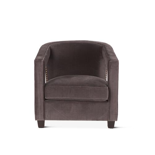 Danny Club Chair Vintage Gray Velvet