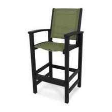 View Product - Coastal Bar Chair in Black / Kiwi Sling