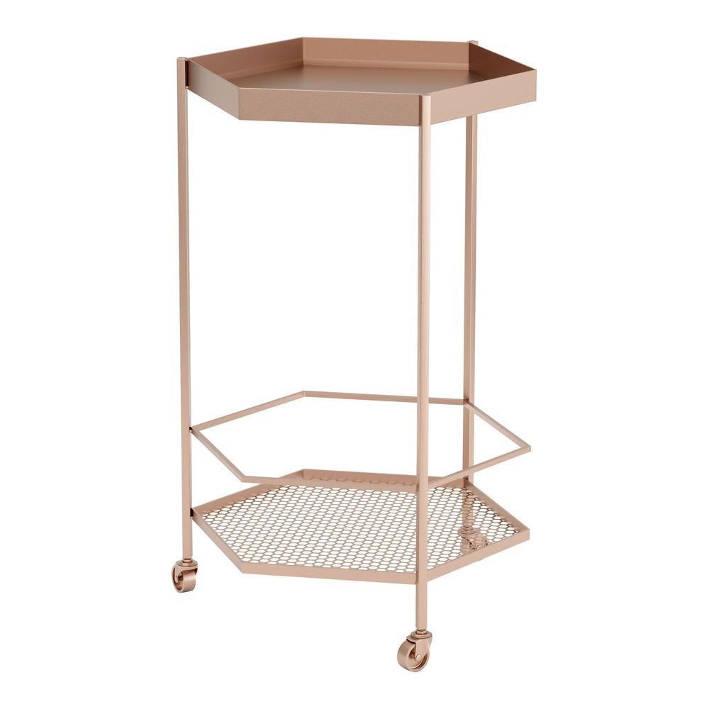 See Details - Hex Bar Cart Gold