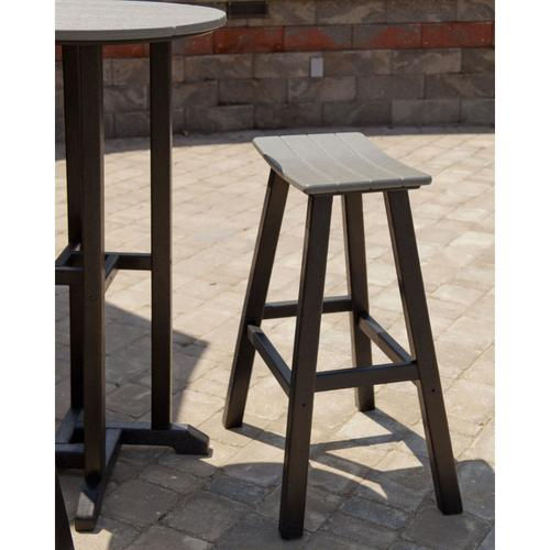 "Black & Lemon Contempo 30"" Saddle Bar Stool"